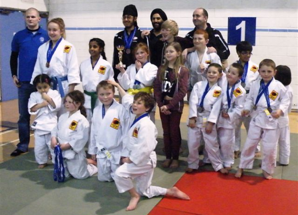 Bradford Tomiki Aikido Club at the 2013 Junior Championship (North).